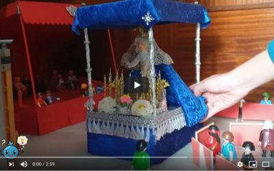 Miguel Ángel, de 14 años nos muestra como vive la Semana Santa